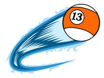 Billiard ball with an effect. Vector illustration design Royalty Free Illustration