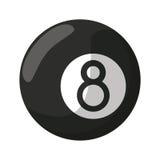 Billiard ball eight. Illustration eps 10 vector illustration