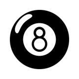 Billiard ball  eight pictogram. Illustration eps 10 Stock Photos