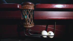 Billiard ball falls into a pocket stock video footage