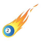 Billiard Ball in Fire Stock Image