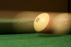 Billiard ball hit Stock Photo