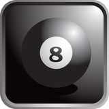 Billiard ball icon. Web icon of an eight billiard ball Stock Image