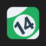 Billiard ball Icon. Best for your app or web icon Stock Photo