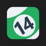 Billiard ball Icon Stock Photo