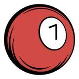 Billiard ball icon cartoon Royalty Free Stock Photo