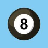 Billiard ball icon Royalty Free Stock Photography
