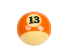 Billiard ball isolated on white background Royalty Free Stock Photos