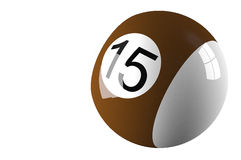 Billiard ball isolated on white. 3d rendered Billiard ball isolated on white Royalty Free Stock Images