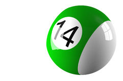 Billiard ball isolated on white Stock Image