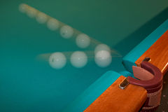 Billiard ball - motion. Stock Photography