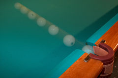 Billiard ball - motion. Royalty Free Stock Image