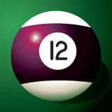 Billiard ball number 12 royalty free illustration