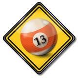 Billiard ball number 13 Royalty Free Stock Photos