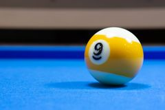 Billiard ball number 9 royalty free stock images