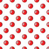 Billiard ball pattern, cartoon style Stock Images