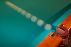 Billiard ball in the pocket Royalty Free Stock Photos