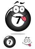 Billiard ball seven in cartoon format Royalty Free Stock Photos