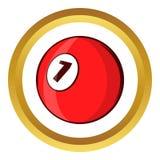 Billiard ball vector icon, cartoon style Royalty Free Stock Image