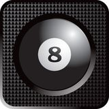 Billiard ball web button Stock Photo