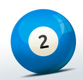 Billiard ball. On white background Stock Photography