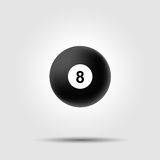 Billiard ball 8 on white background with shadow Royalty Free Stock Photo