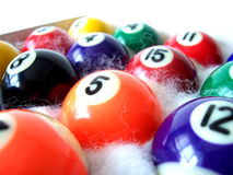 Billiard Balls 1. Used to play Billiards or Pool Stock Photography