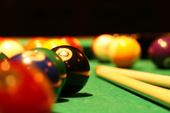 Billiard balls Stock Image