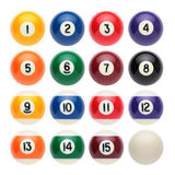 Billiard balls. On white background Vector Illustration