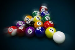 Billiard balls. Lie on the billiard table royalty free stock photo