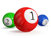 Billiard balls. Royalty Free Stock Images