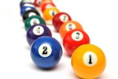 Billiard balls Stock Photos