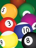 Billiard balls. On a table  illustration Royalty Free Stock Photography
