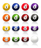 Billiard balls. Computer illustration, isolated on the white Stock Illustration