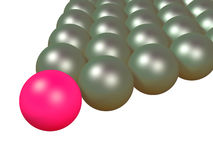 Billiard balls. Isolated 3d objects Royalty Free Stock Image