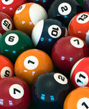 Billiard balls. A lot of balls for billiards close-up, high resolution Stock Photography