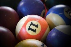 Billiard balls. Used billiard balls on a billiard table royalty free stock photography