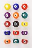 Billiard balls. Close-up photography Stock Photos