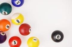 Billiard balls. Close-up photography Stock Images