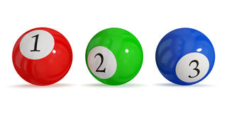 Billiard balls. Leadership concept. isolated on white background.3d rendered Stock Photos