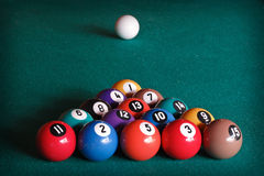 Billiard balls Royalty Free Stock Photos
