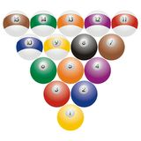 Billiard balls. Art illustrationof billiard or snooker balls Stock Illustration