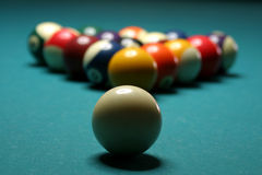 Billiard balls. On a table Royalty Free Stock Image