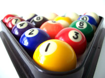 Billiard Balls 6. Used to play Billiards or Pool royalty free stock image