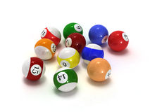 Billiard balls. This is billiard balls. Usable for catalogue or sports journals royalty free stock photo