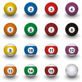Billiard balls. In white background royalty free illustration