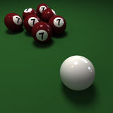 Billiard balls with 7 number seven Royalty Free Stock Photo