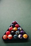 Billiard balls. In a triangle frame Royalty Free Stock Images