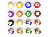 Billiard balls all Stock Photos