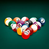Billiard balls. American pool billiards balls on a white background vector illustration
